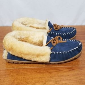 ll Bean Wick Good Shearling Lined Moccasin Slipper